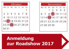 Anmeldung zur Roadshow 2017