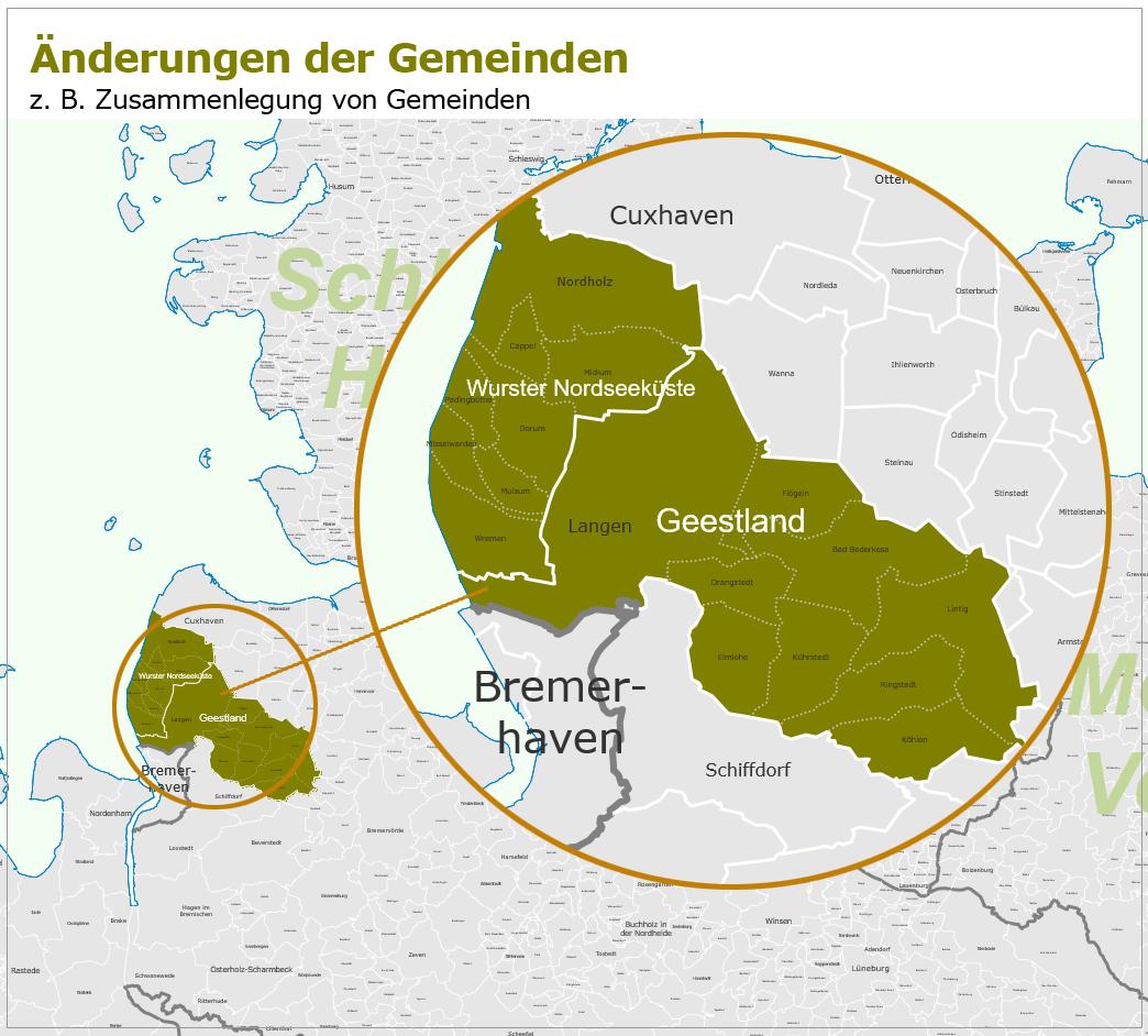 Gemeinden-Änderungen 2016 in Deutschland